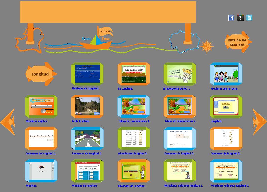 Medidas de Longitud . Juegos y Ejercicios - Educanave